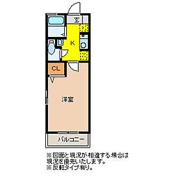 レトアITO[201号室]の間取り