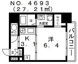 OAK弥栄・夕陽ケ丘[2階]の間取り