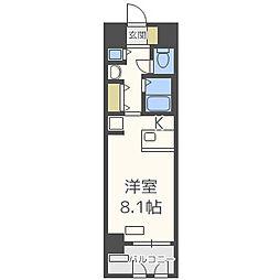プレサンス東本町VOL2[2階]の間取り