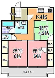サングリーンハイツ石川町 B棟(302号室)[302号室]の間取り