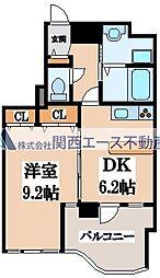 GRAZIO日本1[3階]の間取り