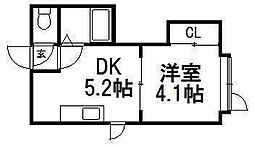 T's円山[105号室]の間取り