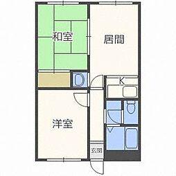フォレスト新札幌[4階]の間取り
