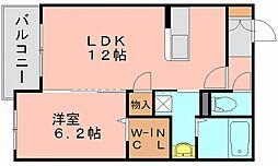 シャーメゾン冷泉[1階]の間取り