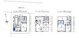建物参考価格:2、500万円 外構工事は別途料金 建延面積:113.44?