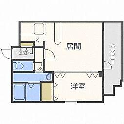 フェリスカーサN20[2階]の間取り