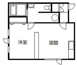 STAY22[F号室]の間取り