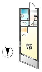 メイセイハイツI[2階]の間取り