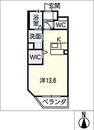 仮)幸田駅西マンション 2階ワンルームの間取り