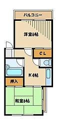 メゾン川崎[2階]の間取り