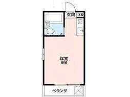 シティハイツ富士見[2階]の間取り