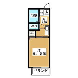 コンフォート杉村[1階]の間取り