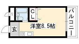 愛知県名古屋市守山区八剣2丁目の賃貸アパートの間取り
