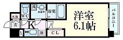 JR大阪環状線 福島駅 徒歩8分の賃貸マンション 2階1Kの間取り