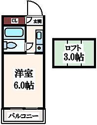 サンビル寺田町[4階]の間取り