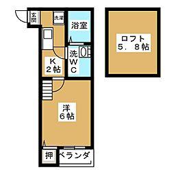 LUMINOUS矢田[1階]の間取り
