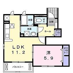 サニーメゾンKIII[102号室]の間取り