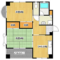 細井マンションA[2階]の間取り