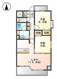 BLANCHUR JYOUSAI[5階]の間取り
