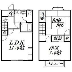 [テラスハウス] 静岡県浜松市中区佐鳴台4丁目 の賃貸【/】の間取り