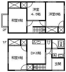 [一戸建] 愛媛県松山市朝生田町5丁目 の賃貸【/】の間取り