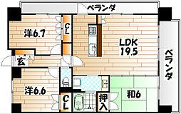 シャトレ大手町 S棟[12階]の間取り