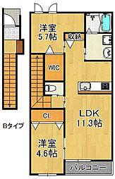 セレーノ日根野[2階]の間取り