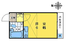 東京都豊島区長崎2の賃貸アパートの間取り