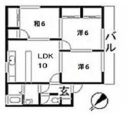 ハイライフ和誠[3階]の間取り