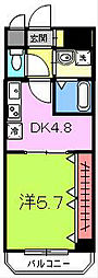 宿院西TKハイツ2号館[205号室]の間取り