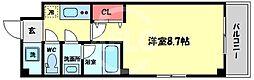 天川INN梅田東 3階1Kの間取り