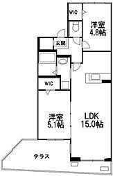 北海道札幌市西区琴似三条2丁目の賃貸マンションの間取り