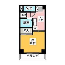 ドミールカネハチ[2階]の間取り