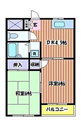 HUマンション[2階]の間取り