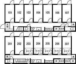 板橋本町IIシェアハウス[205号室]の間取り