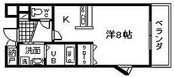 大阪府岸和田市三田町の賃貸マンションの間取り