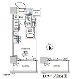 JR山手線 大塚駅 徒歩2分の賃貸マンション 18階ワンルームの間取り