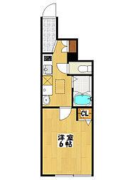 ミハス本八幡[1階]の間取り