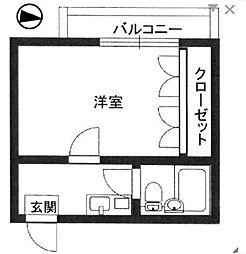 神奈川県相模原市中央区相模原2丁目の賃貸マンションの間取り