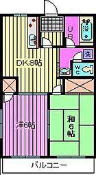 ラポールマンション[5階]の間取り