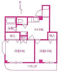 paircity Lucent KAWADA[2階]の間取り