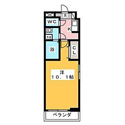 ベル・フルール弥生台I 1階1Kの間取り