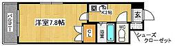 愛知県名古屋市昭和区阿由知通4丁目の賃貸マンションの間取り