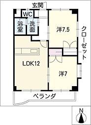 レノックスコート[6階]の間取り