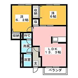 プラシード・カーサI[1階]の間取り