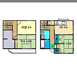 [一戸建] 高知県高知市南宝永町 の賃貸【/】の間取り