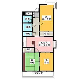 コンフォールF[3階]の間取り