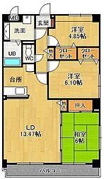リフレ21[3階]の間取り