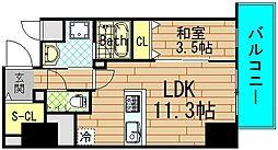 パンセ新町[4階]の間取り