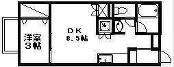 シェトワB[1階]の間取り